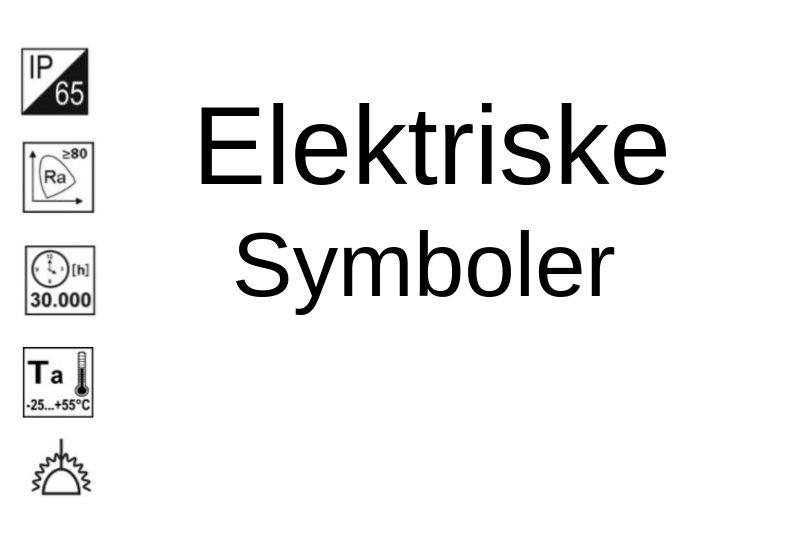 Elektro symboler og forkortelser