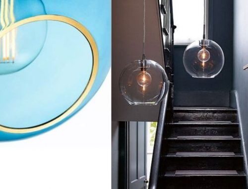 vakre og runde glasslamper