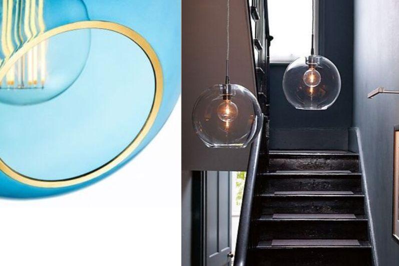 Vakre og Runde Lamper i Glass