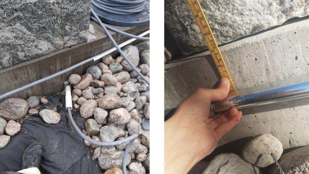 Montering av Elbillader 5 stk på stolpe