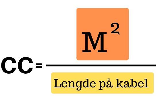formel för beräkning av värmekabelavstånd cc