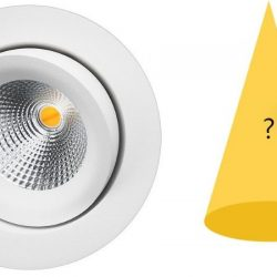 spredningsvinkel for downlight og lys
