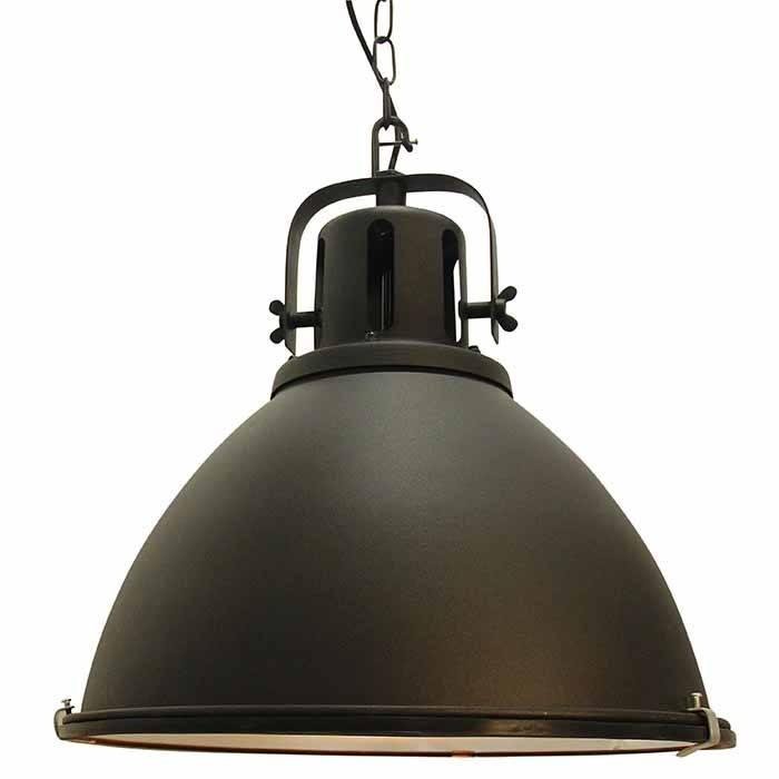 Industriel loftslampe, sort metal, triangelformet | Armatur