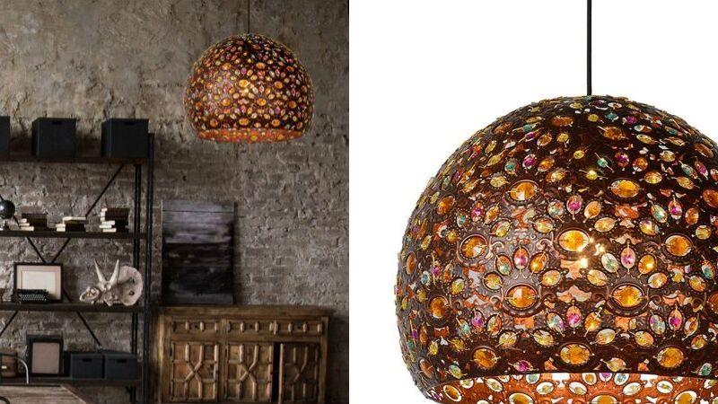 Orientalsk Lampe med Dekorativt Lys