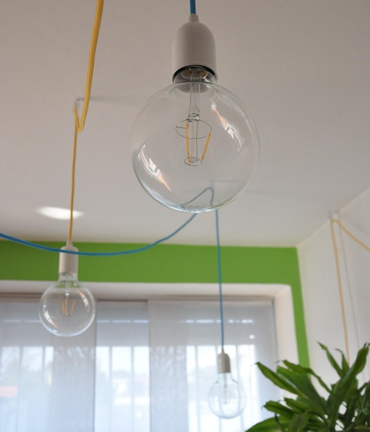 ledning til lampe