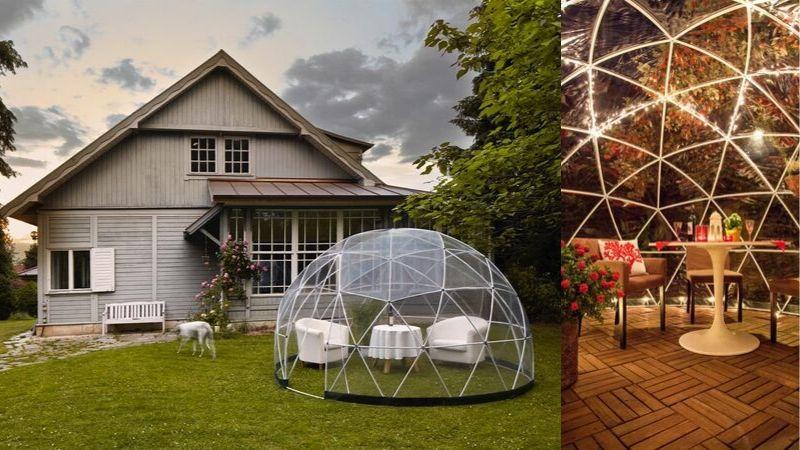 Nyt hagen sommer, vinter og høst med denne kule hage iglooen