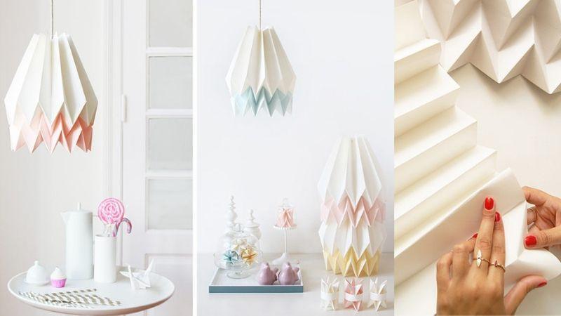 Nydelige & Håndlagde Origami Lampeskjermer