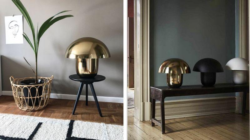 Carl-Johan – Sopp inspirert bordlampe med vintage preg