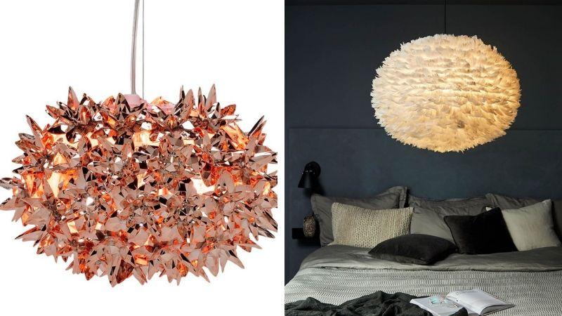 Lamper med Fjær – Fine Fjærlamper med koselig lys