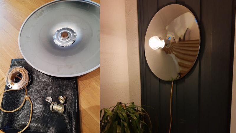 Funky DIY Barkrakk Vegglampe