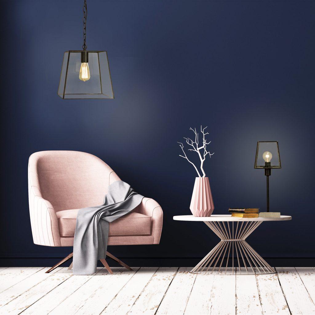 Avlange Glasslamper til spisebord