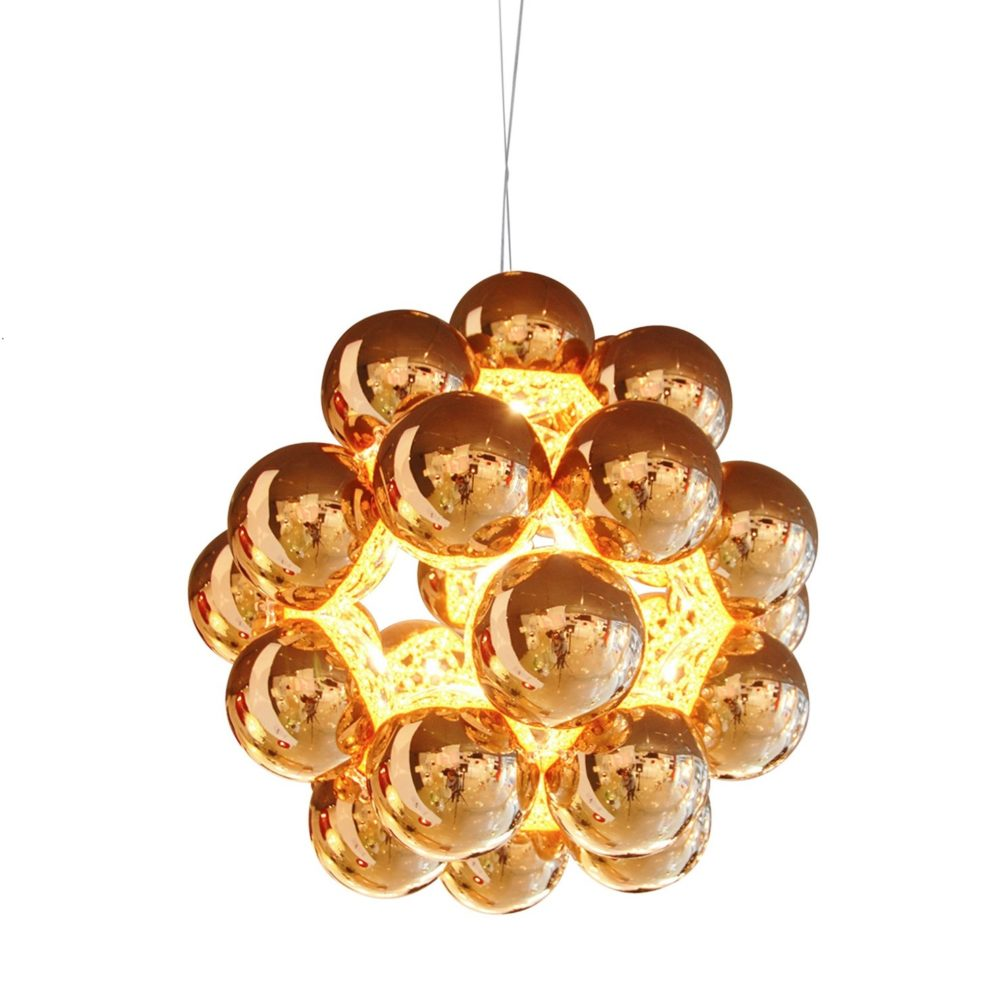 små kobberfargede lamper