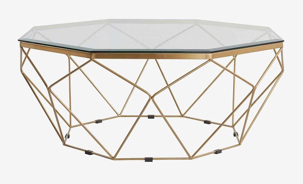 Sofabord 'Rund' Messing Glass | Hverdagsrom ROM | |