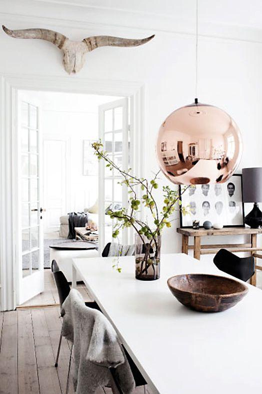 Kobberpendel fra Tom Dixon Lekre & Elegante kobberlamper