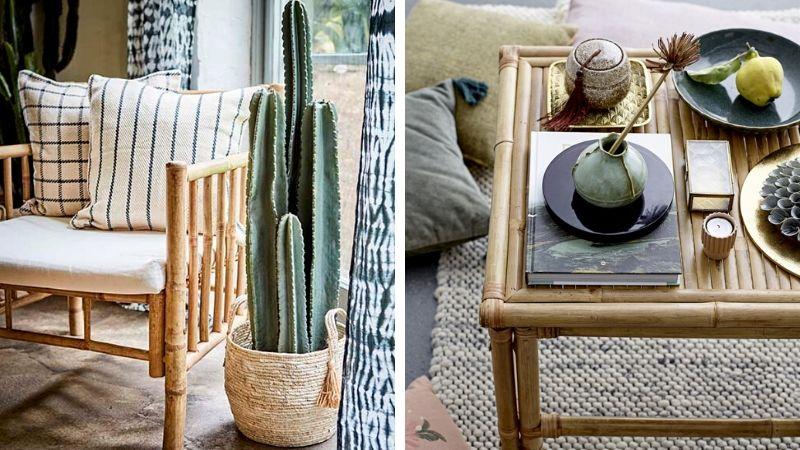 møbler utendørs i bambus