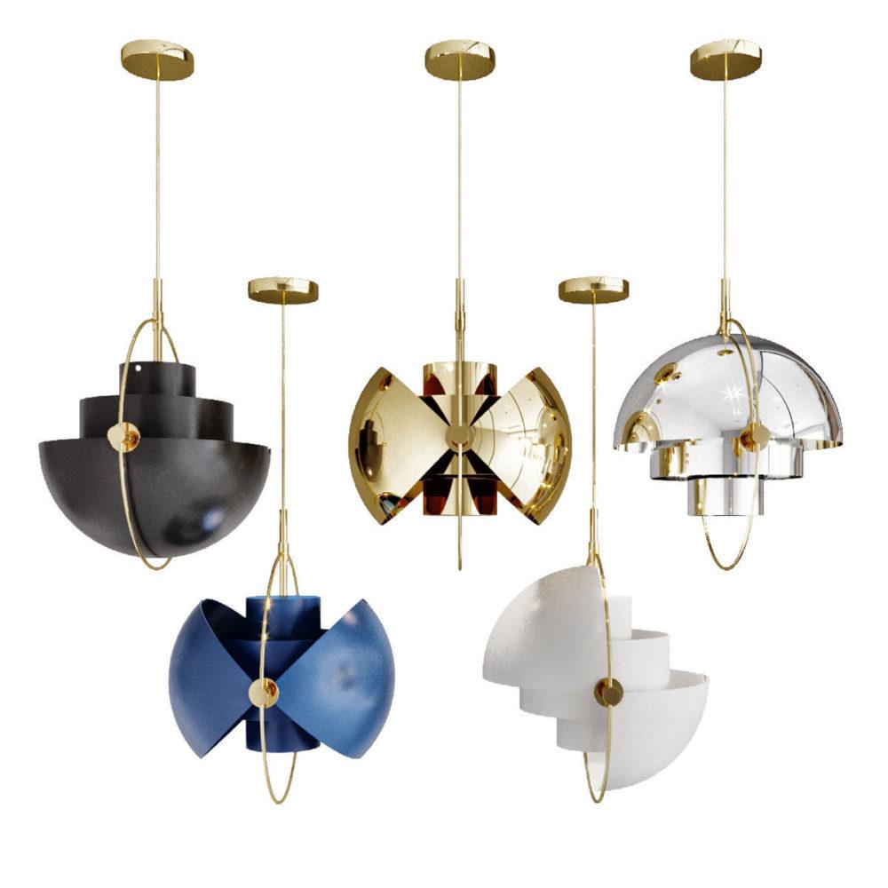 Multi Lite Utsøkte lamper fra Gubi siden 1972