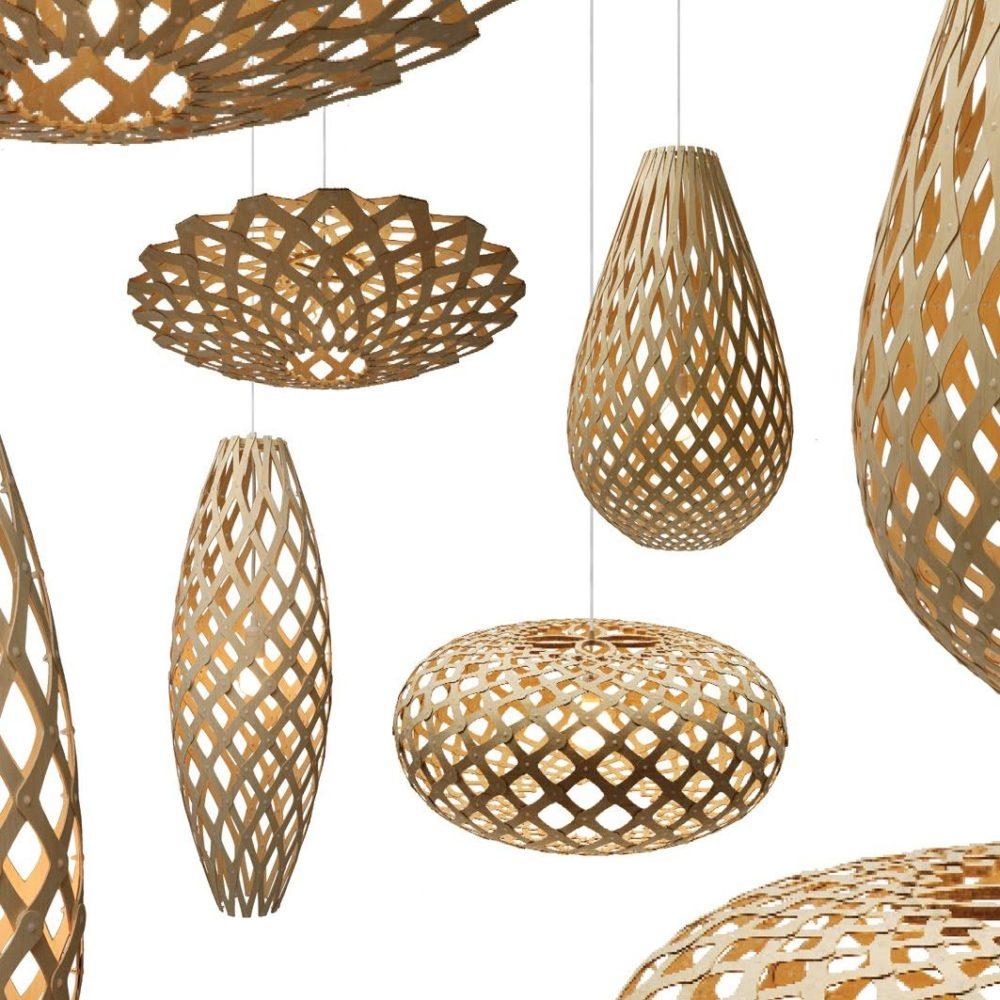 Taklampe Bambus      
